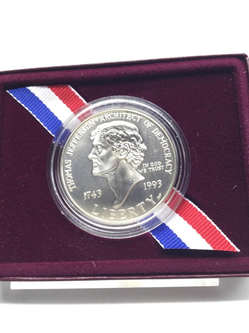 Thomas Jefferson Commemorative Silver Dollar