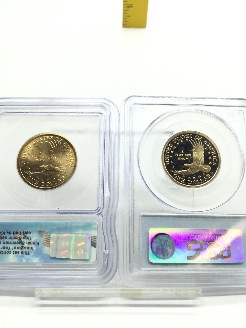 2 Graded Sacajawea Dollars