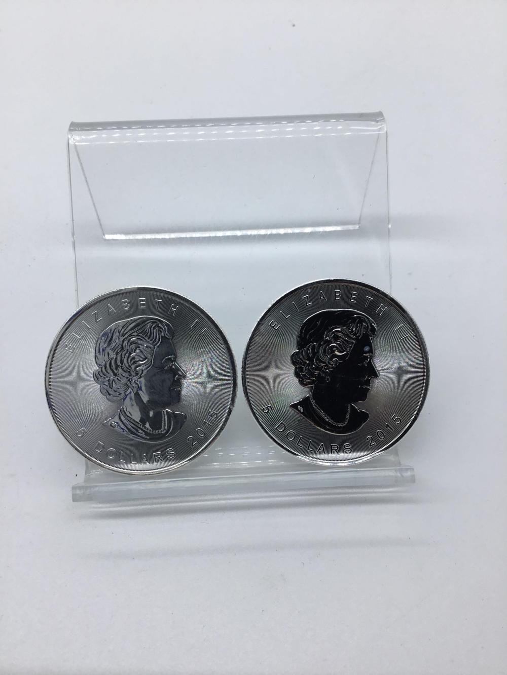 2015 Canada Maple leaf 1oz fine silver $5 coin