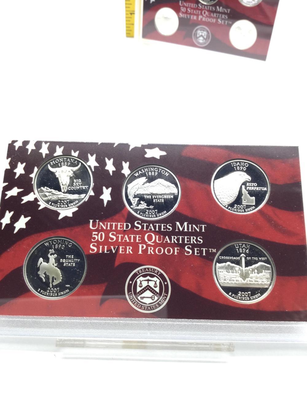 2 State Quarter Silver Proof Sets