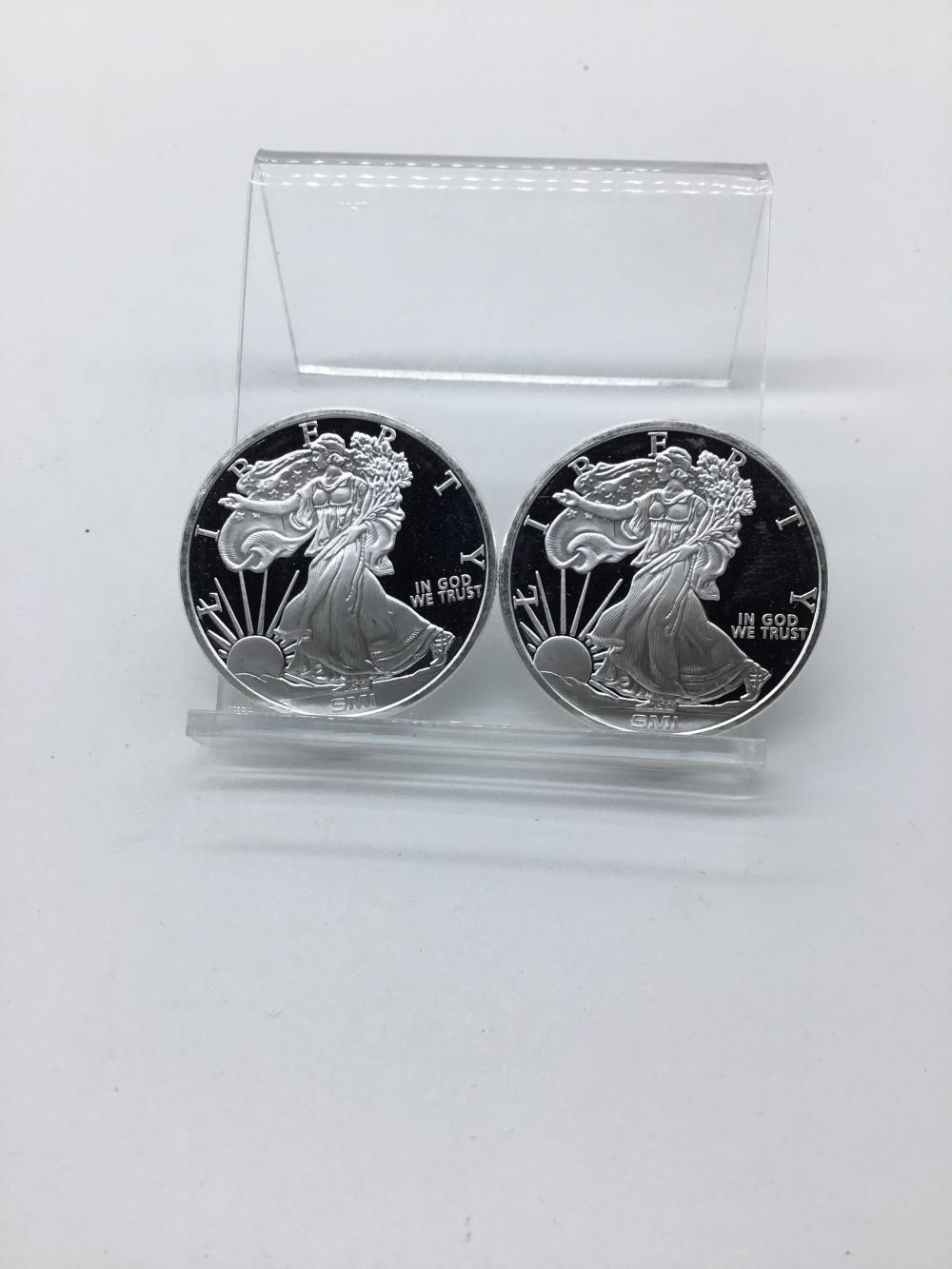 Walking liberty silver rounds