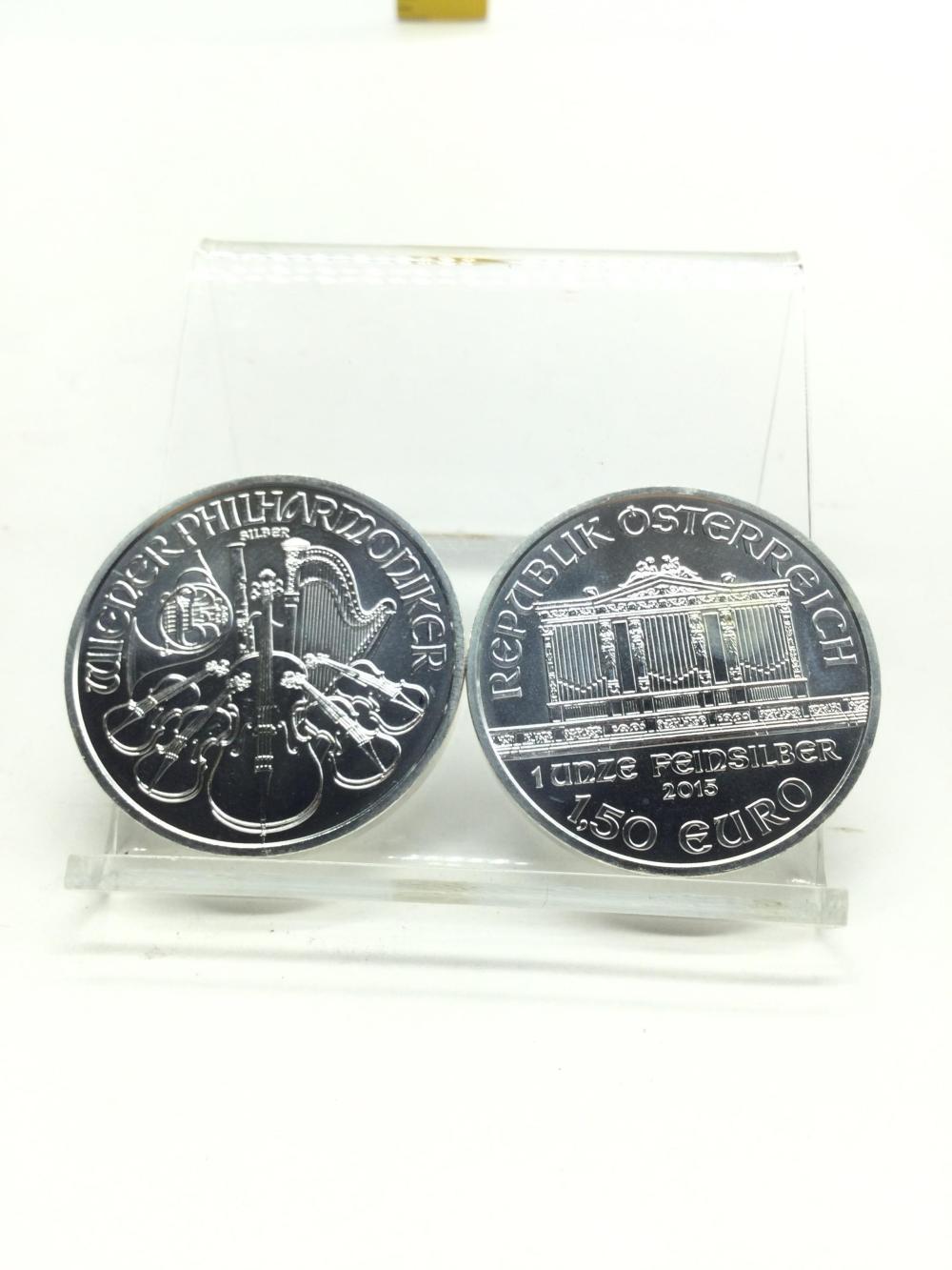 2 Austrian Philharmonic Silver Coins