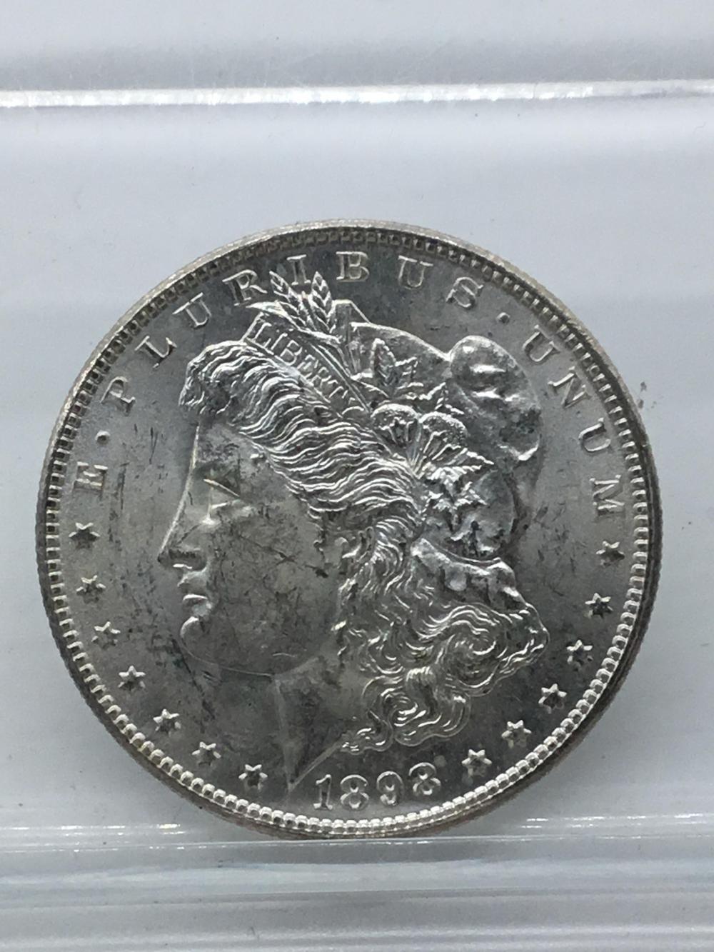 1898 o Morgan silver dollars