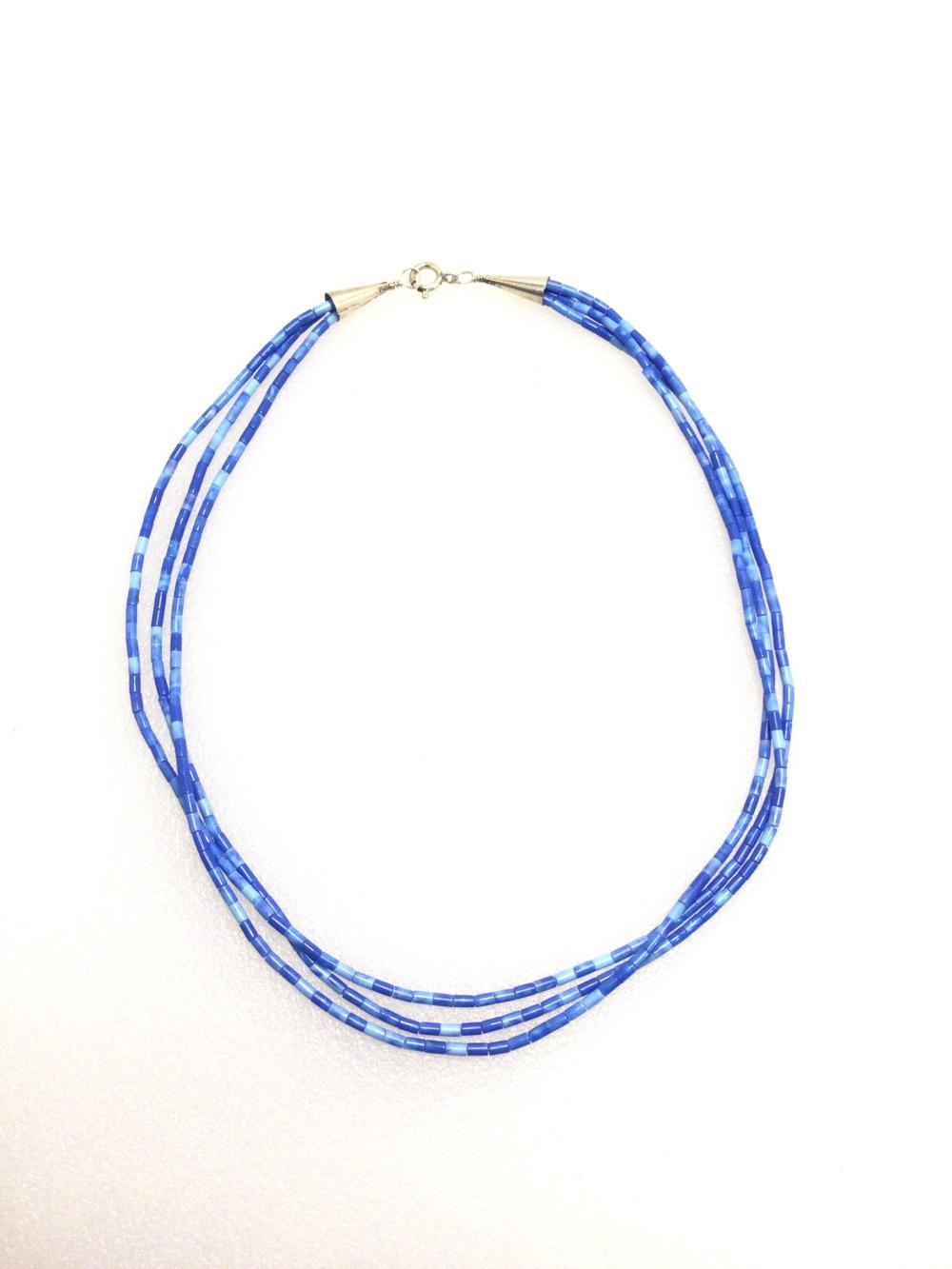 G: Handmade Blue Beaded Necklace