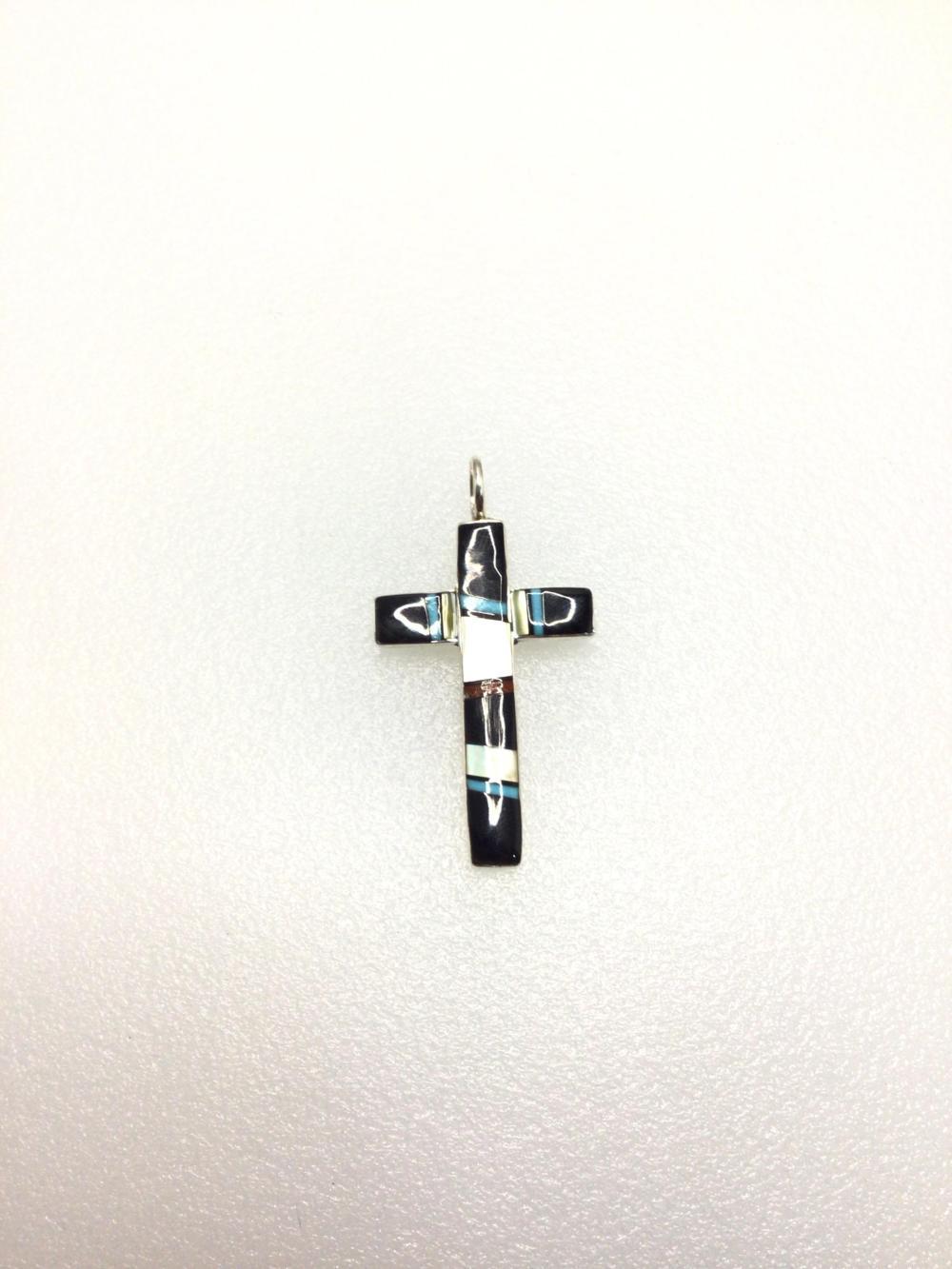 Z: Handmade Multi Stone Cross Pendant