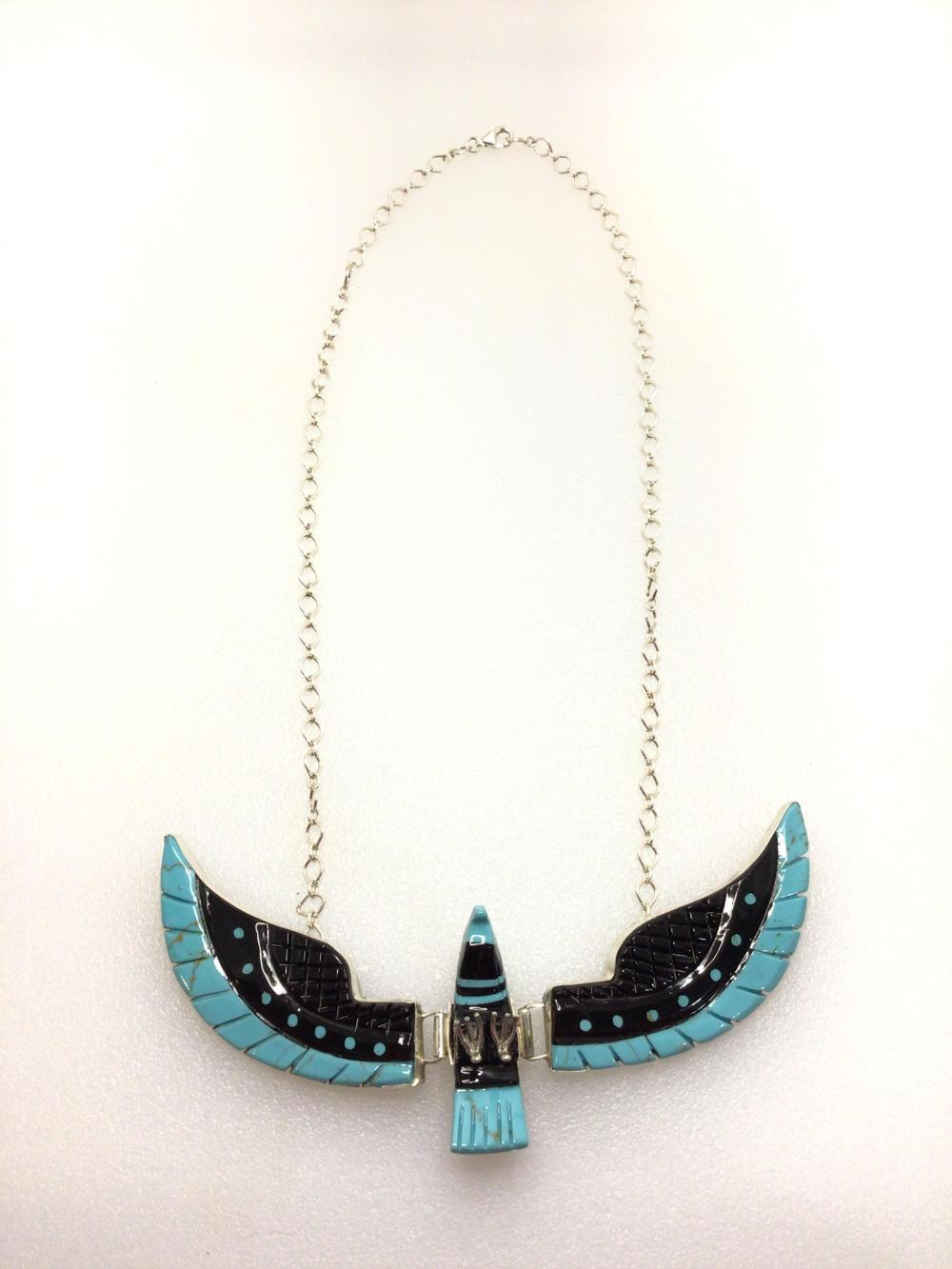 G: Ban Livingston Onyx and Turquoise Necklace