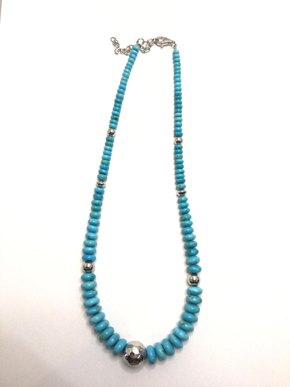 A: Handmade Beaded Turquoise Necklace