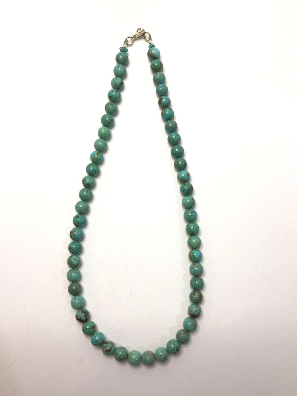 G: Handmade Turquoise Beaded Necklace