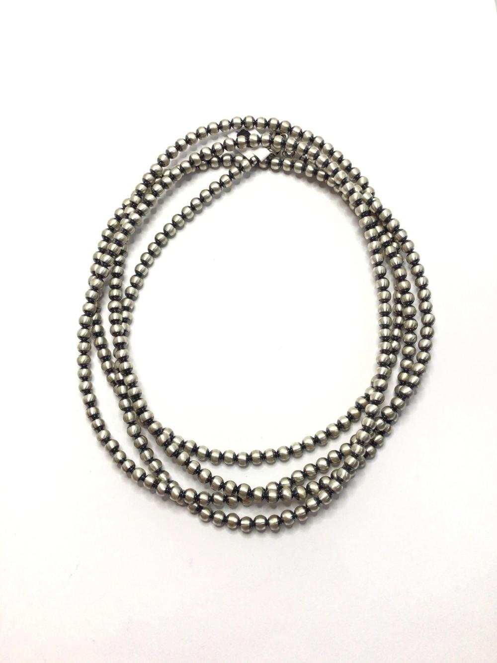 A: Handmade Sterling Beaded Necklace