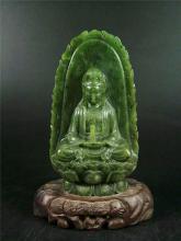 NATURAL GREEN JADE KWAN YIN