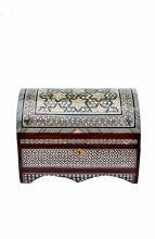 mother of pearl jewelry box, domed 2