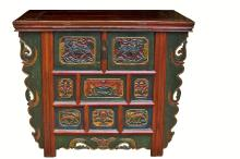 tibetan deep chest, hand painted hand carved