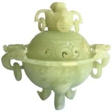 JADE INCENSE BURNER, 3-FOOTED