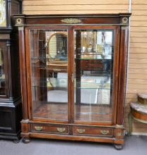 19thC FRENCH EMPIRE 2-DOOR CABINET