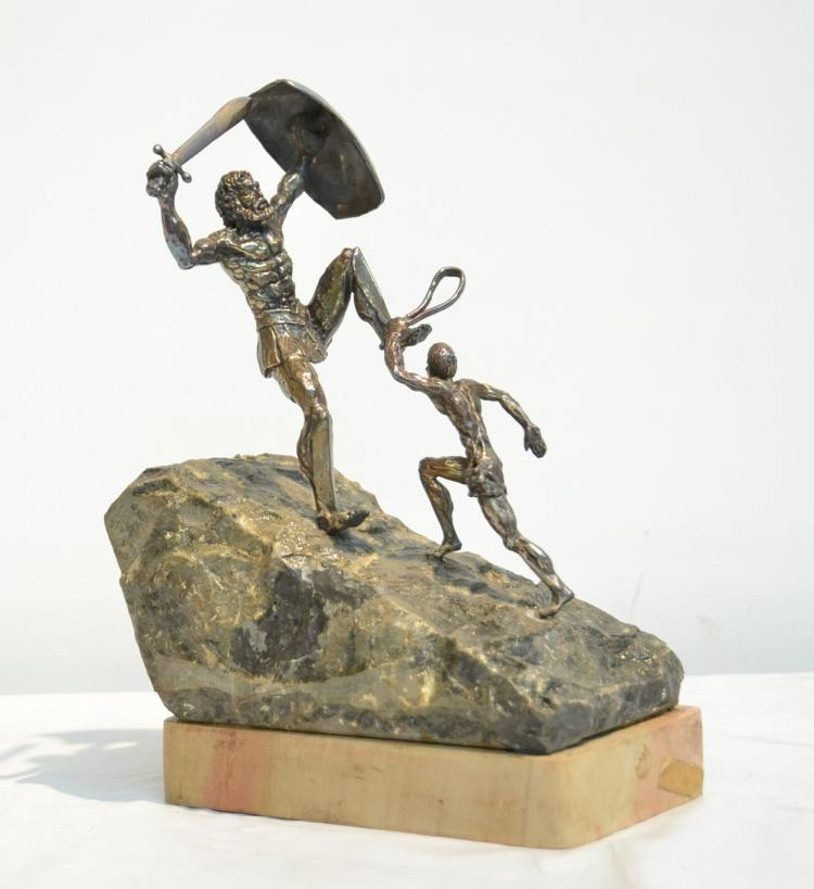 YAACOV HELLER SILVER DAVID VANQUISHING GOLIATH