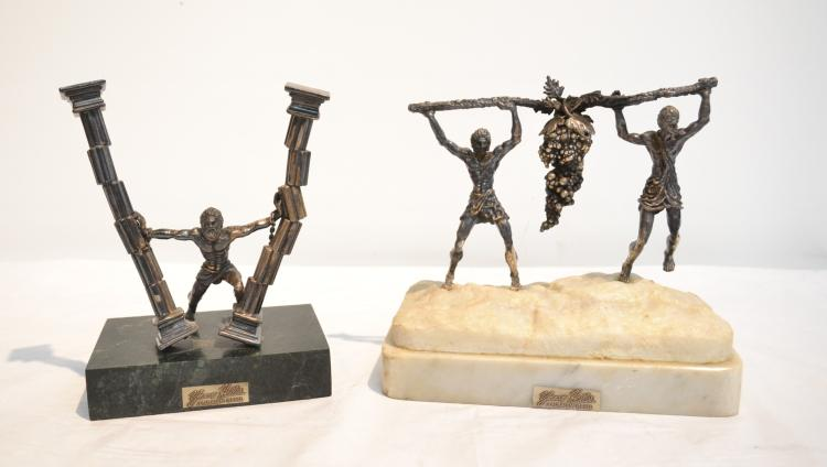 (2) YAACOV HELLER JUDAICA SCULPTURES INCLUDING