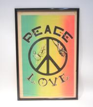 VINTAGE PEACE & LOVE POSTER