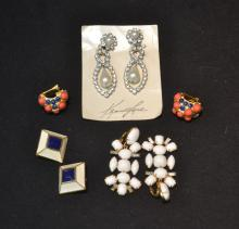 ASSORTED KENNETH LANE COSTUME JEWELRY