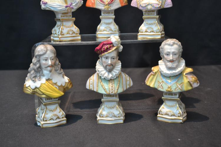 6) SEVRES PORCELAIN MINIATURE BUSTS OF FRENCH