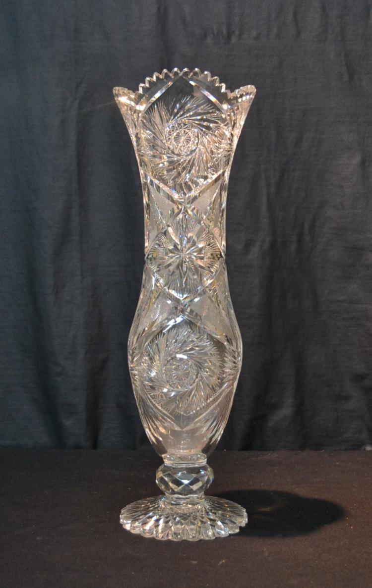 2 fresh cut glass vase home idea large antique cut glass corsett vase reviewsmspy