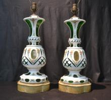 (Pr) BOHEMIAN LAMPS WITH FLOWERS - 6