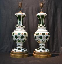 (Pr) BOHEMIAN LAMPS WITH FLOWERS - 8