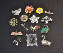 COSTUME JEWELRY LOT CONSISTING OF BSK , CORO ,