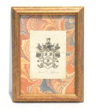 FRAMED LOUIS COMFORT TIFFANY BOOK PLATE