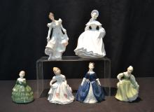(6) ROYAL DOULTON FIGURINES INCLUDING