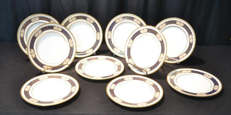 (10) ROYAL DOULTON FLORAL SERVICE PLATES WITH