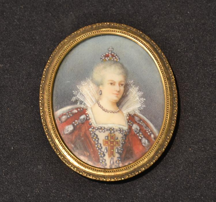 HAND PAINTED PORTRAIT OF MARY QUEEN OF SCOTS