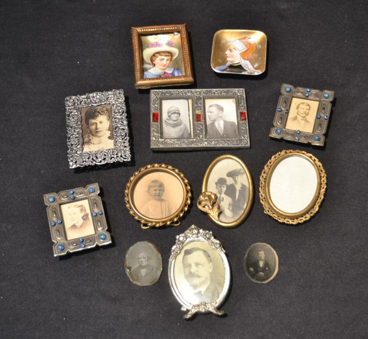 ASSORTED MINIATURE INCLUDING PORTRAIT DISHES &