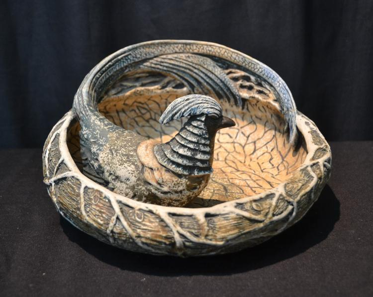 AMPHORA BIRD FORM BOWL
