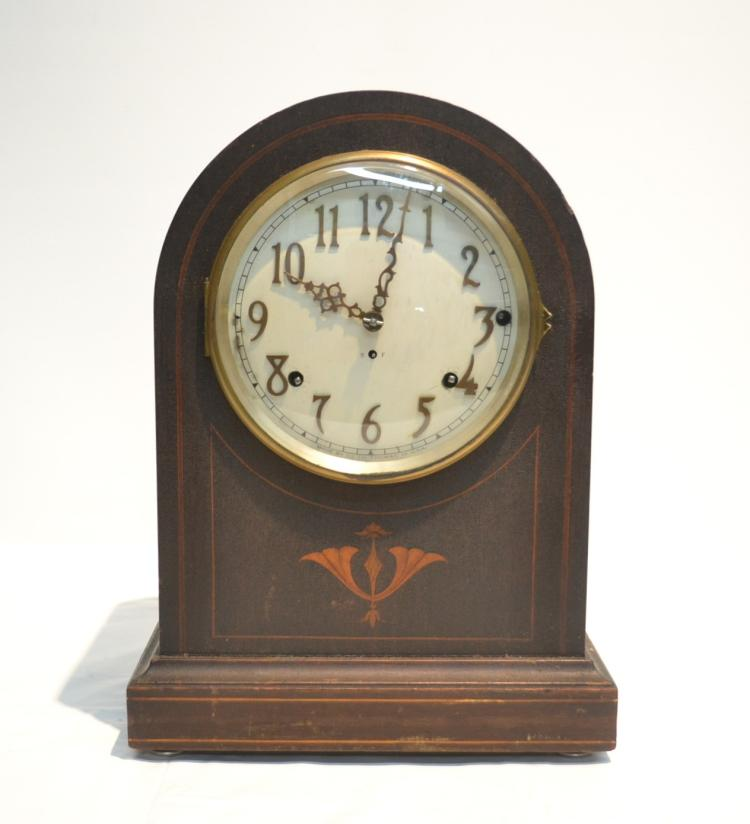 SETH THOMAS INLAID MANTLE CLOCK WITH