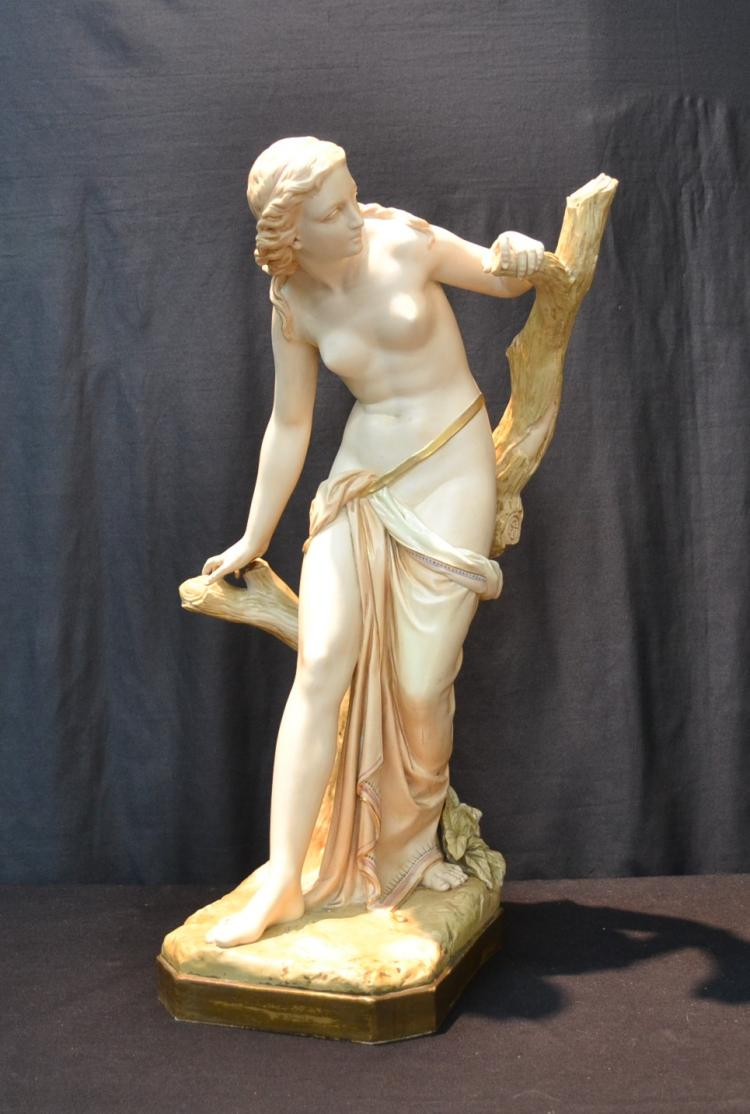 LARGE ROYAL WORCESTER CLASSICAL SEMI NUDE FIGURE