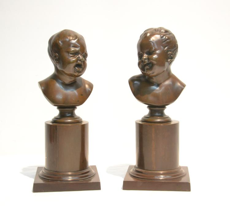 (Pr) BRONZE HAPPY & SAD BABY BUSTS