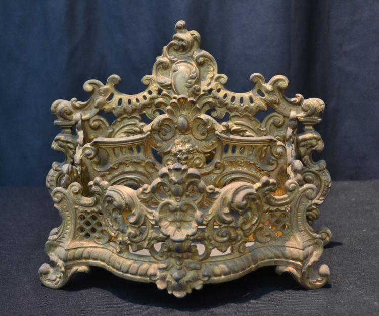ORNATE GILT METAL B & H LETTER HOLDER