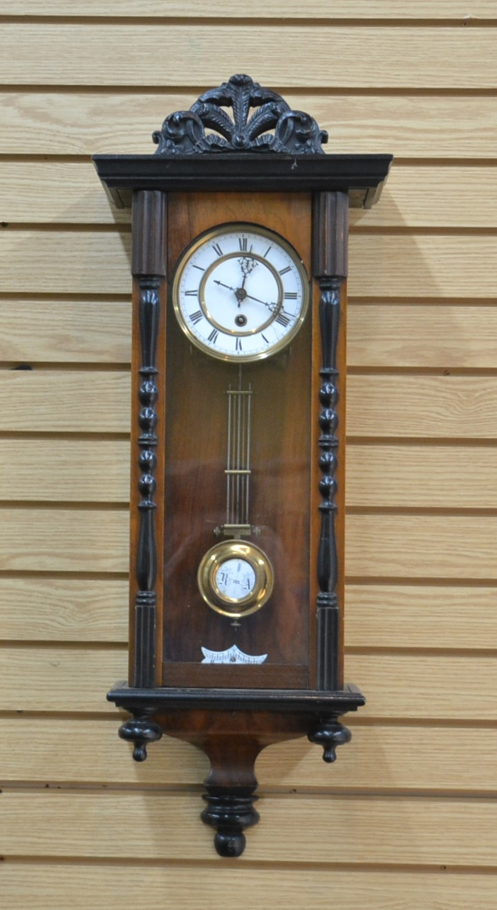 GERMAN WALNUT REGULATOR - 10 1/2
