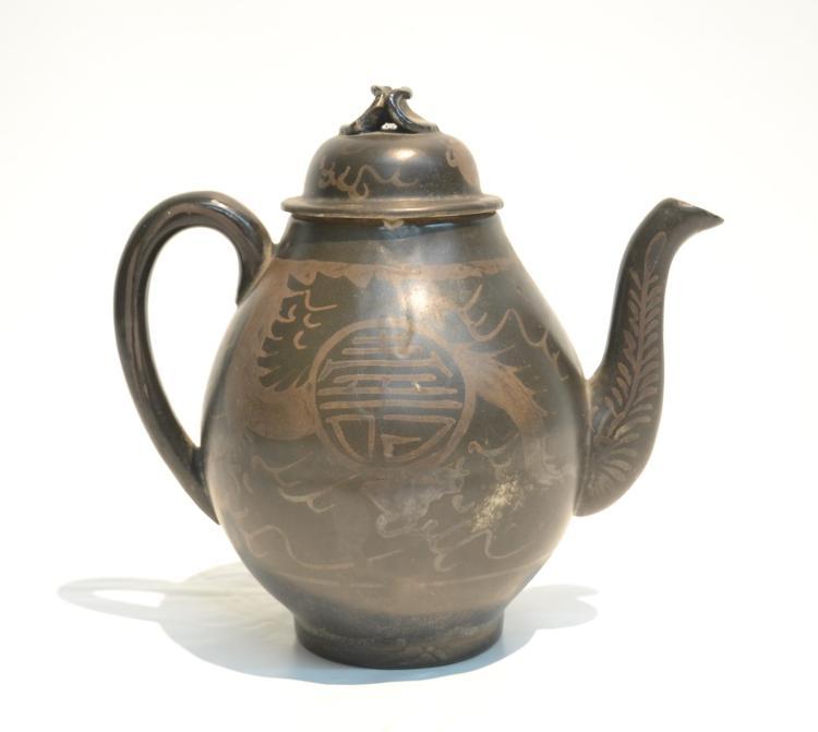 18thC ? CHINESE PORCELAIN TEA POT - 7