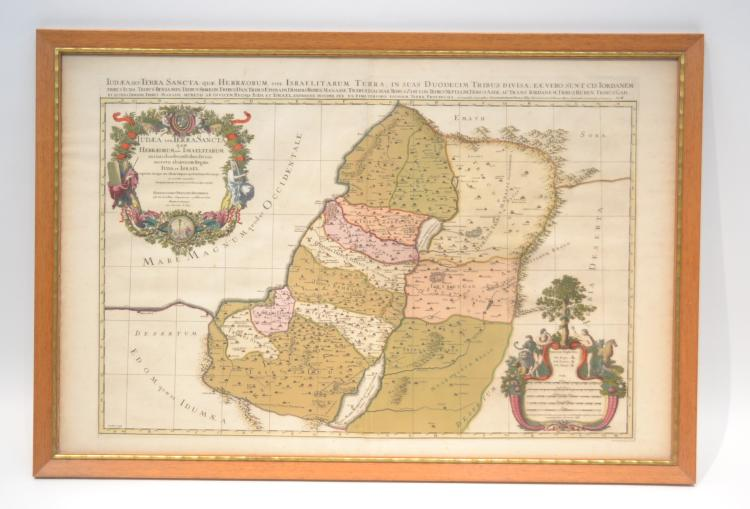 1696 CORDIER MAP OF ISRAEL - 28