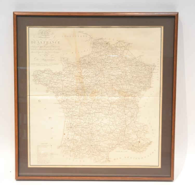 VINTAGE CARTE DE LA FRANCE MAP BY E CLOIN DESPOSE