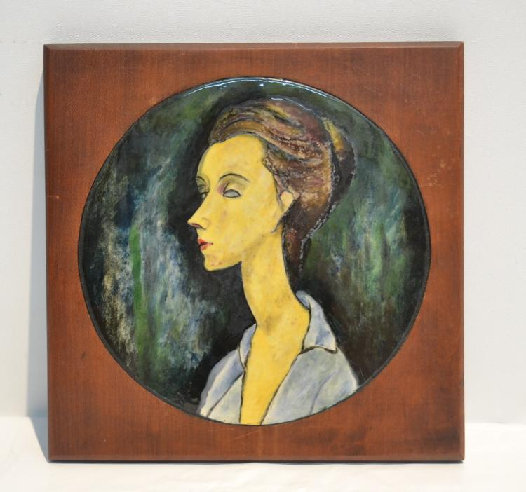 PICASSO STYLE PORTRAIT PLAQUE OF WOMAN