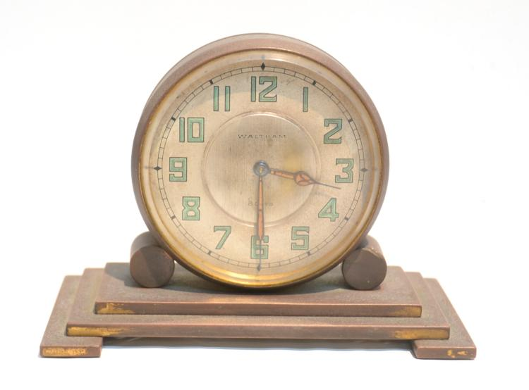 BRONZE WALTHAM 8-DAY DOUBLE SIDED CLOCK