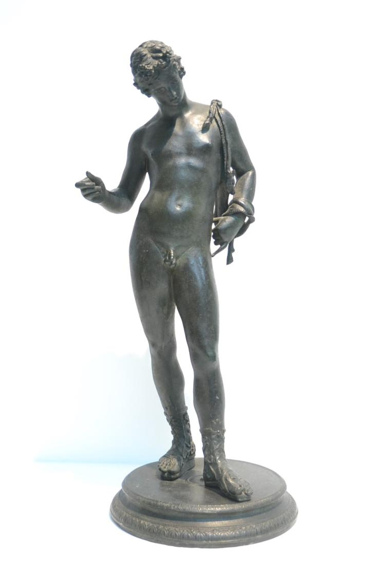 18thC ? BRONZE MALE NUDE - 10