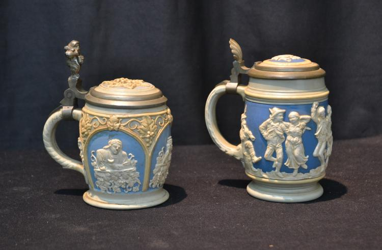 (2) GERMAN METTLACH STEINS - 3