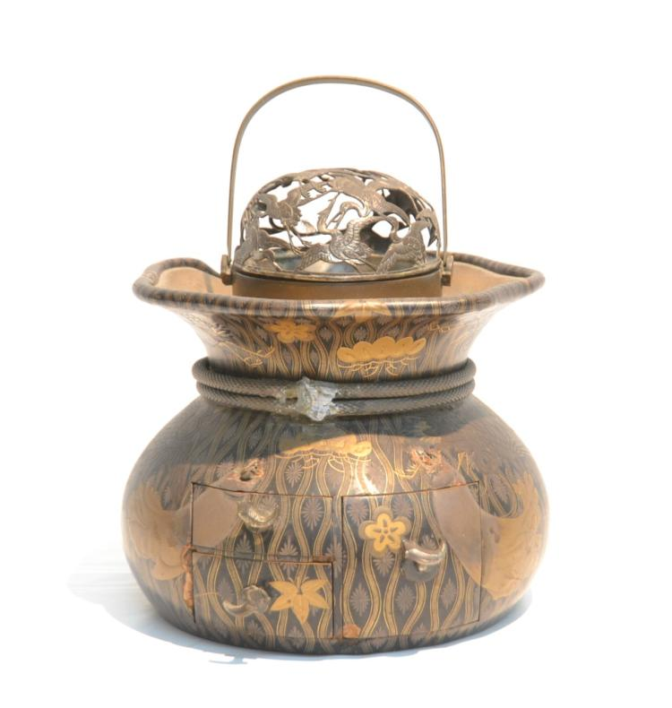 UNUSUAL ORIENTAL INLAID TEA CADDY
