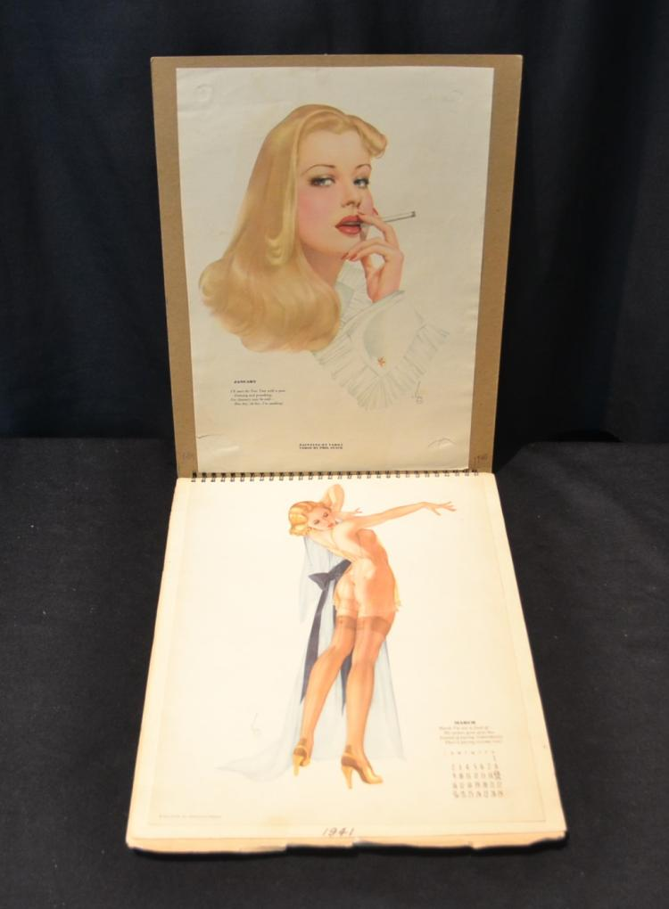 FOLIO OF EARLY VARGA PIN UP CALENDAR GIRLS