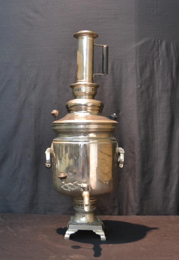RUSSIAN SILVER PLATE SAMOVAR - 11