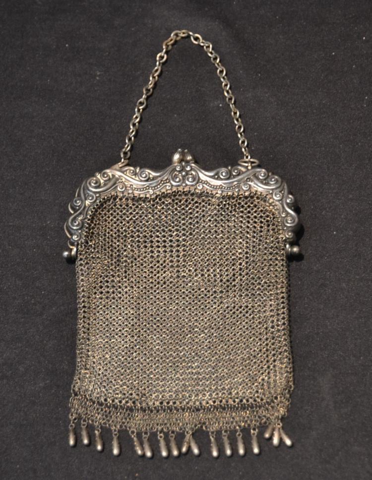 STERLING SILVER MESH BAG - 5