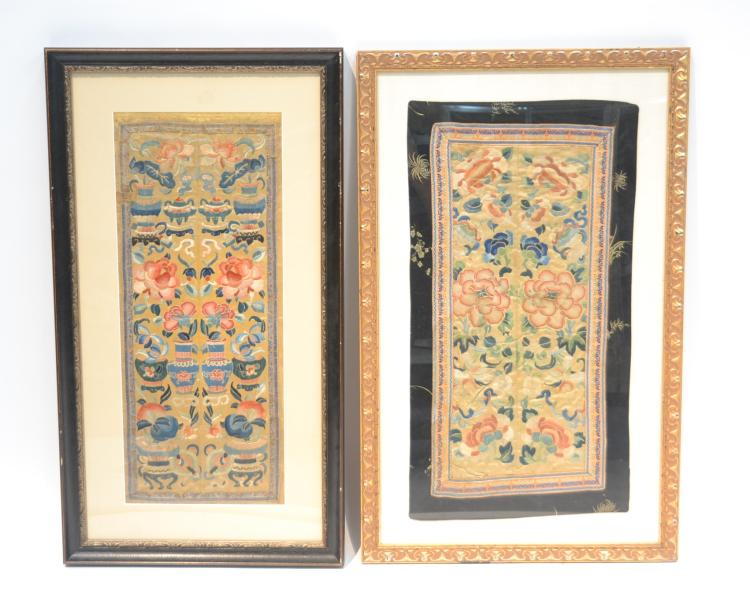 (Pr) CHINESE NEEDLEWORK WITH SCROLLING FLOWERS